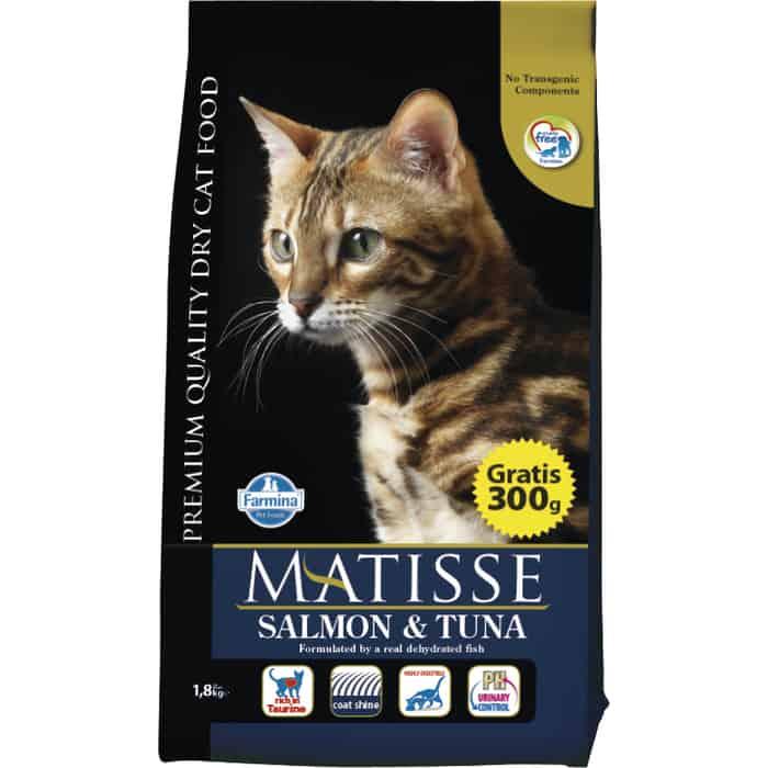 Сухой корм Farmina Matisse Salmon & Tuna с лососем и тунцом для взрослых кошек 1,5кг