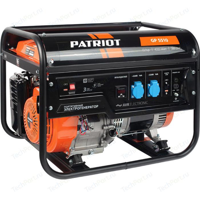 Фото - Генератор бензиновый PATRIOT GP 5510 бензиновый генератор patriot gp 6510le 5000 вт