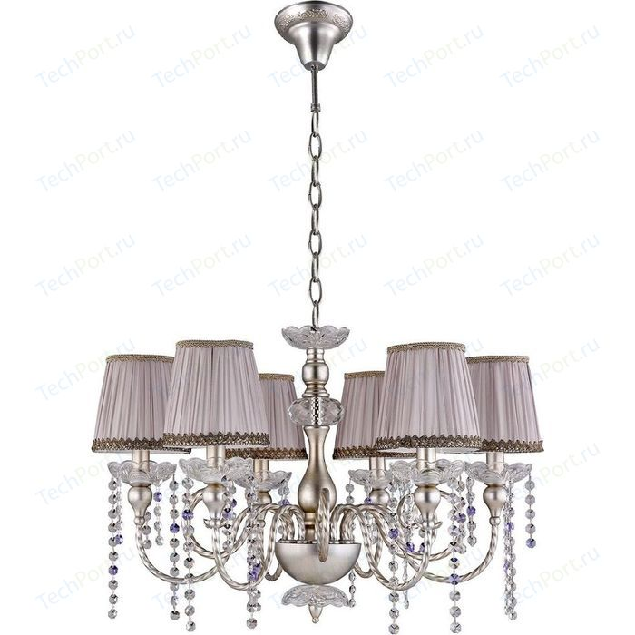 Подвесная люстра Crystal Lux Alegria SP6 Silver-Brown
