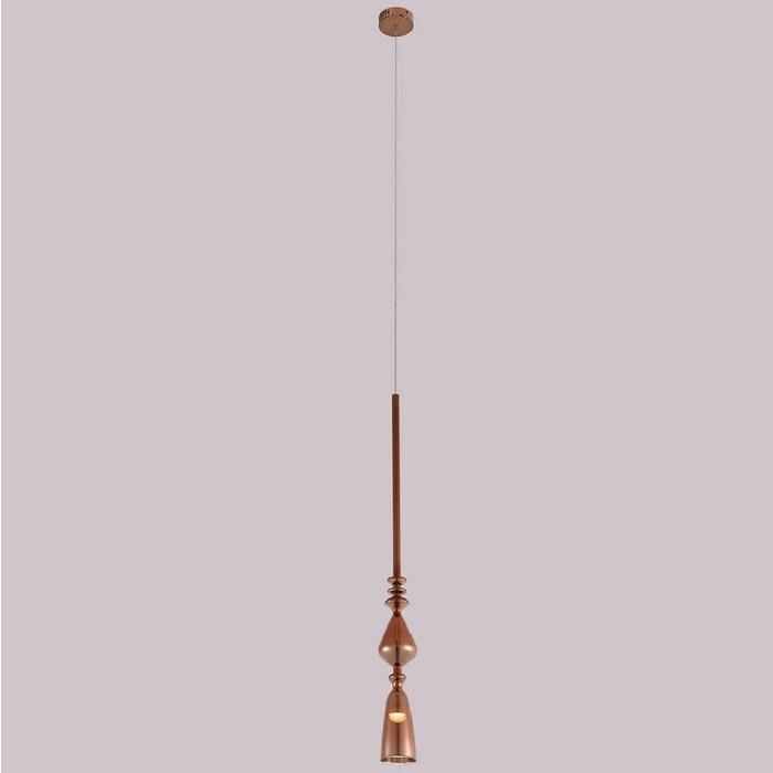 Подвесной светодиодный светильник Crystal Lux SP1 B Copper