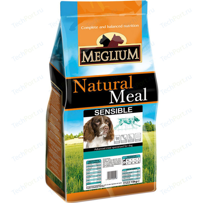 Сухой корм MEGLIUM Natural Meal Dog Adult Sensible Breeders Lamb & Rice для взрослых собак с чувствительным пищеварением 20кг (MS1920)
