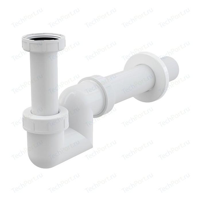 Сифон для раковины и биде AlcaPlast D40 с накидной гайкой 1 1/4, пластик (A45F-DN40)
