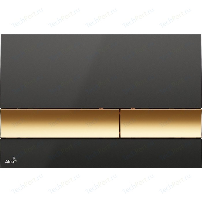 Кнопка смыва AlcaPlast черная/золотая (M1728-5)