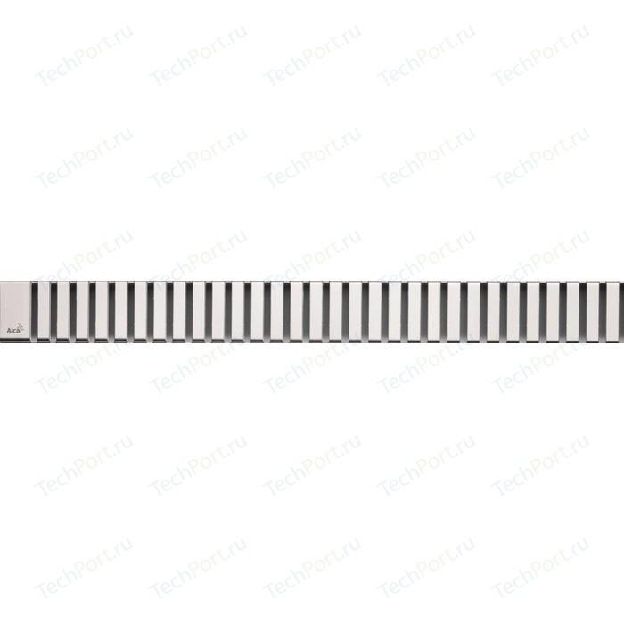 Решетка AlcaPlast Line нержавеющая сталь матовая (LINE-1050M)