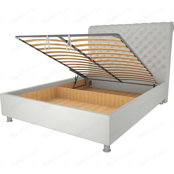 Кровать OrthoSleep Симона механизм и ящик белый 80х200