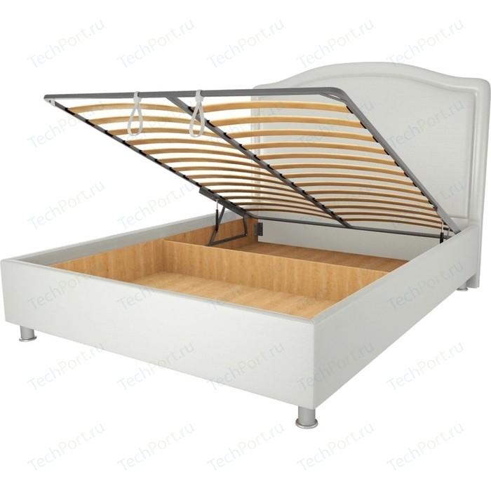 Кровать OrthoSleep Калифорния механизм и ящик белый 180х200