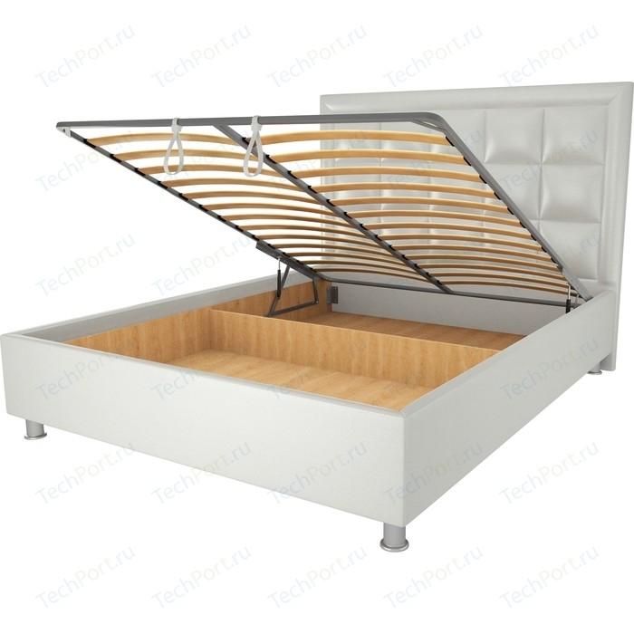 Кровать OrthoSleep Альба механизм и ящик белый 90х200 кровать orthosleep альба шоколад механизм и ящик 90х200