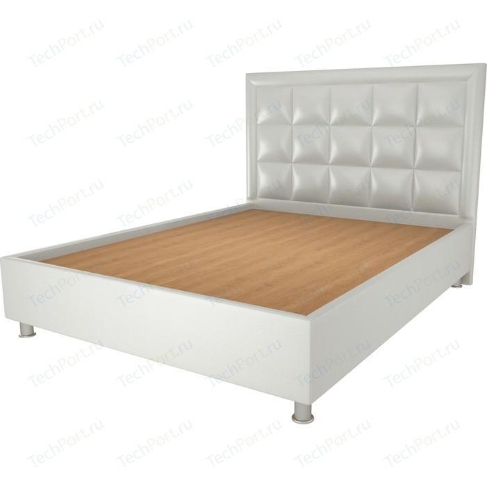 Кровать OrthoSleep Альба жесткое основание белый 200х200