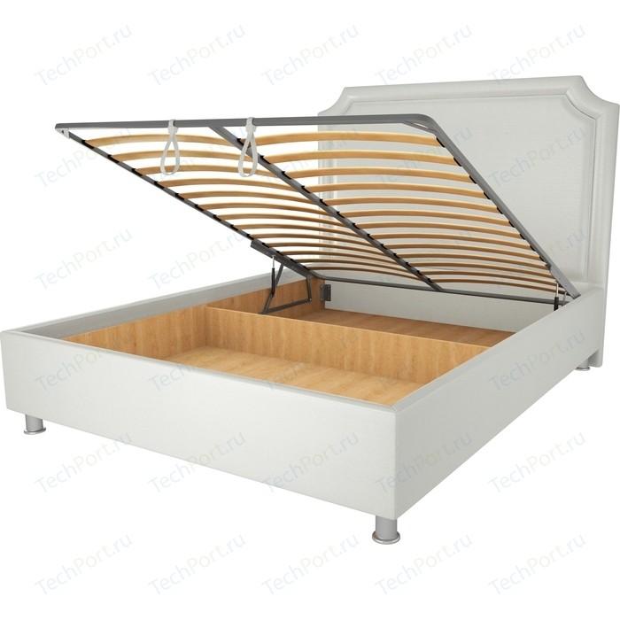 Кровать OrthoSleep Федерика механизм и ящик белый 90х200