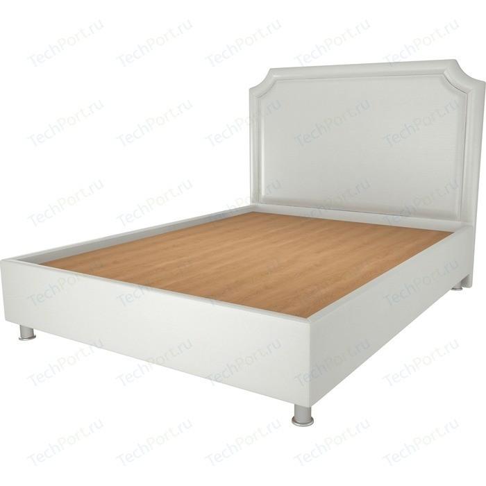 Кровать OrthoSleep Федерика жесткое основание белый 200х200