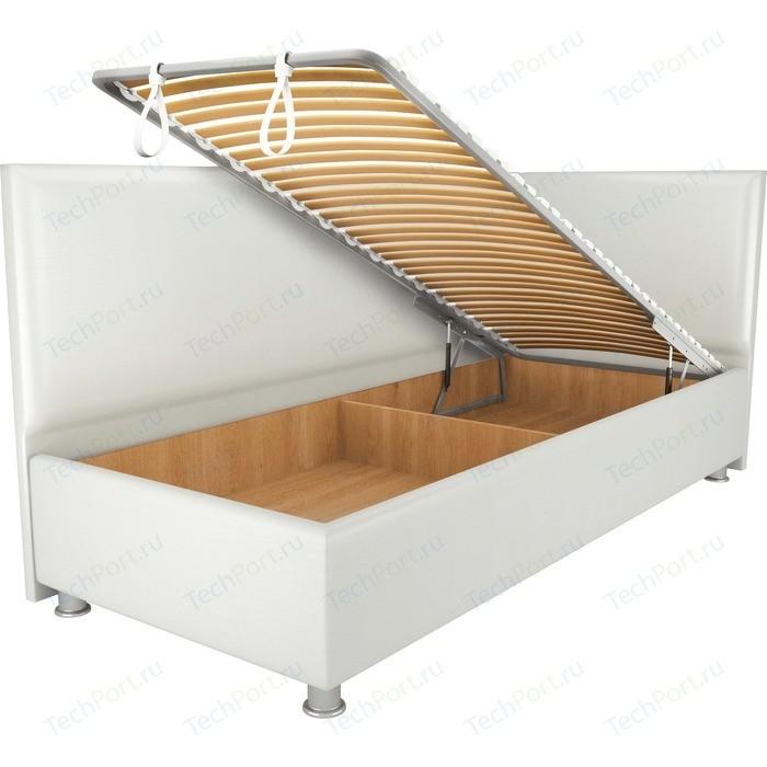 Кровать OrthoSleep Бибионе Лайт механизм и ящик белый 180х200