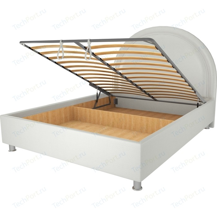 Кровать OrthoSleep Аляска механизм и ящик белый 90х200
