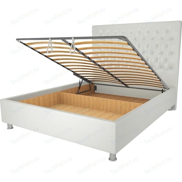 Кровать OrthoSleep Рио механизм и ящик белый 90х200