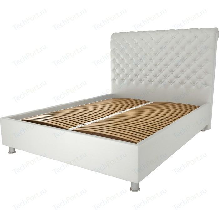 Кровать OrthoSleep Рио жесткое основание белый 140х200