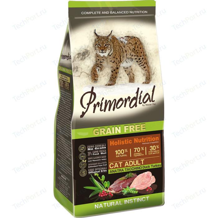 Сухой корм Primordial Grain Free Holistic Cat Adult with Duck & Turkey беззерновой с уткой и индейкой для кошек 2кг (MGSP1102)
