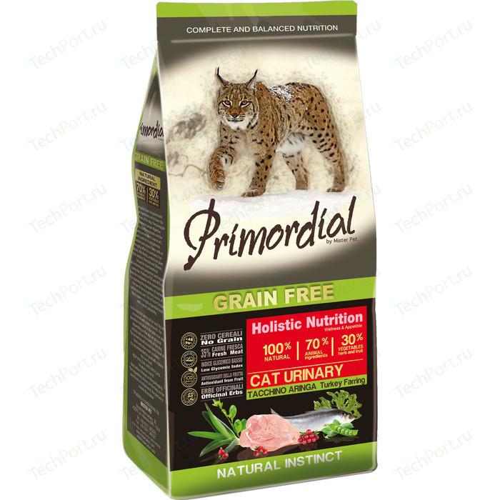 Сухой корм Primordial Grain Free Holistic Cat Urinary with Turkey & Herring беззерновой с индейкой и сельдью для кошек МКБ 2кг (MGSP1402)