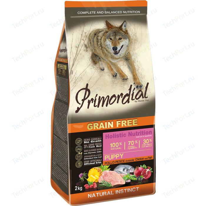 Сухой корм Primordial Grain Free Holistic Puppy with Chicken & Sea Fish беззерновой с курицей и морской рыбой для щенков 12кг (MSP5012)