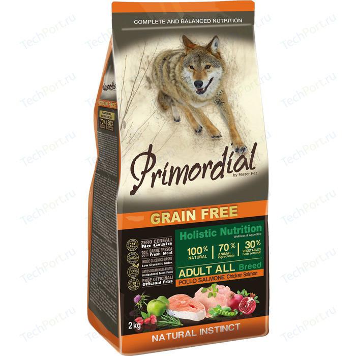 Сухой корм Primordial Grain Free Holistic Dog Adult All Breed with Chicken&Salmon беззерновой с курицей и лососем для собак всех пород 12кг (MSP5212)