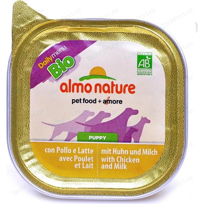 Консервы Almo Nature Daily Menu Bio Puppy with Chicken and Milk паштет с курицей и молоком для собак 300г (2404)