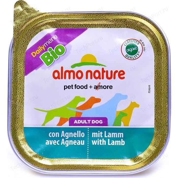 Консервы Almo Nature Daily Menu Adult Dog with Lamb and Potatoes паштет с ягненком и картофелем для собак 100г (1148)
