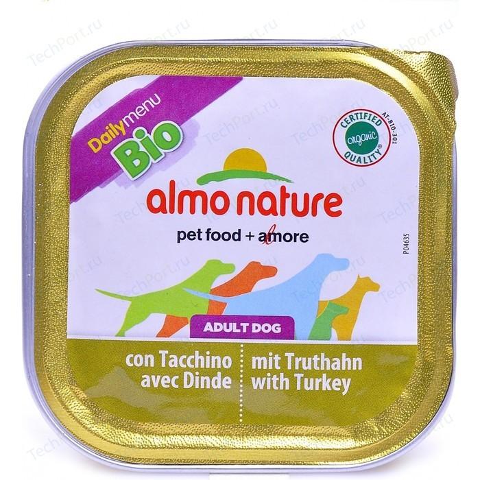 Консервы Almo Nature Daily Menu Bio Adult Dog with Turkey паштет с индейкой для собак 100г (1179)