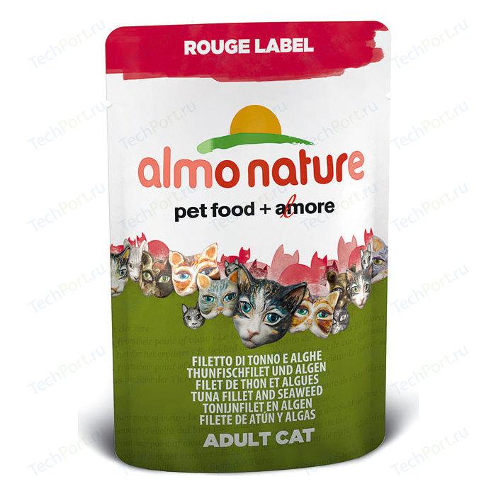 Паучи Almo Nature Rouge Label Adult Cat with Tuna Fillet and Seaweed с тунцом и морскими водорослями для кошек 55г (5832)