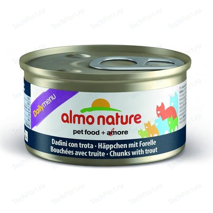 Консервы Almo Nature Daily Menu Adult Cat Chunks with Trout кусочки с форелью для кошек 85г (5009)