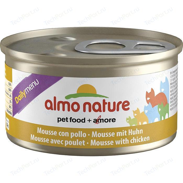 Консервы Almo Nature Daily Menu Adult Cat Mousse with Chicken нежный мусс с курицей для кошек 85г (5023)