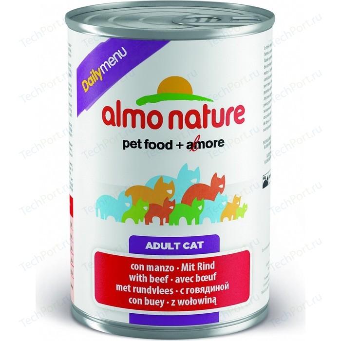 Консервы Almo Nature Daily Menu Adult Cat with Beef с говядиной для кошек 400г (5054)