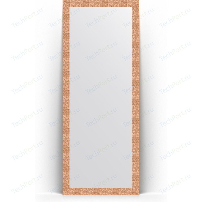 Зеркало напольное Evoform Definite Floor 78x197 см, в багетной раме - соты медь 70 мм (BY 6004)