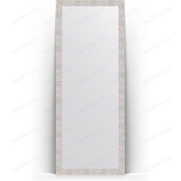 Зеркало напольное Evoform Definite Floor 78x197 см, в багетной раме - соты алюминий 70 мм (BY 6005) зеркало evoform definite 86х66 соты алюминий