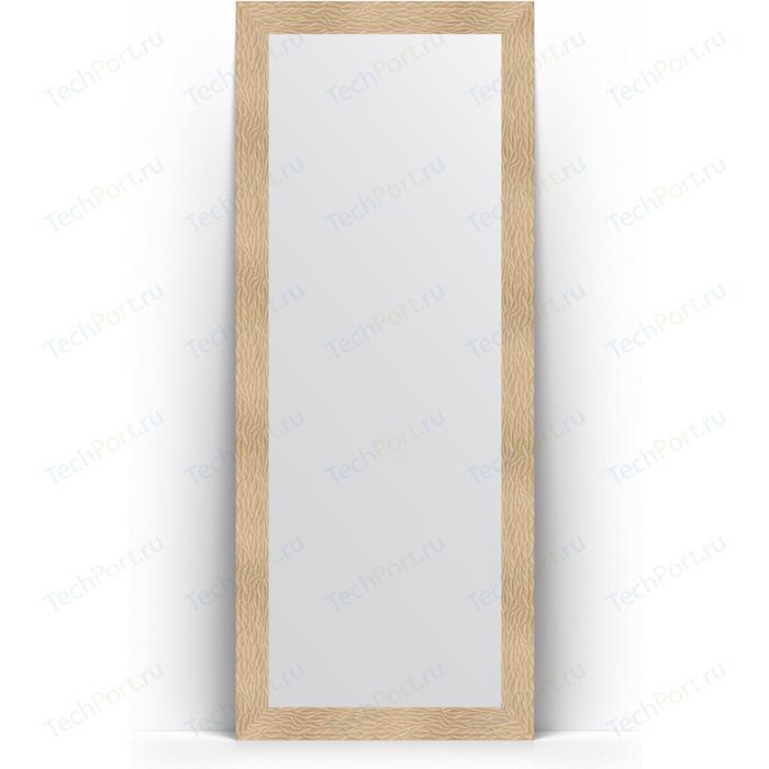 Зеркало напольное Evoform Definite Floor 81x201 см, в багетной раме - золотые дюны 90 мм (BY 6007) зеркало evoform definite floor 201х111 золотые дюны