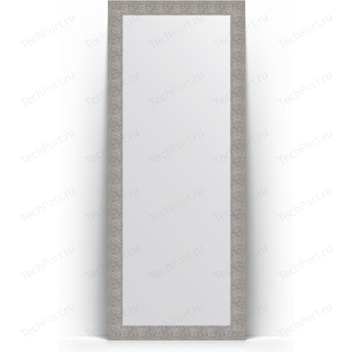 Зеркало напольное Evoform Definite Floor 81x201 см, в багетной раме - чеканка серебряная 90 мм (BY 6009)