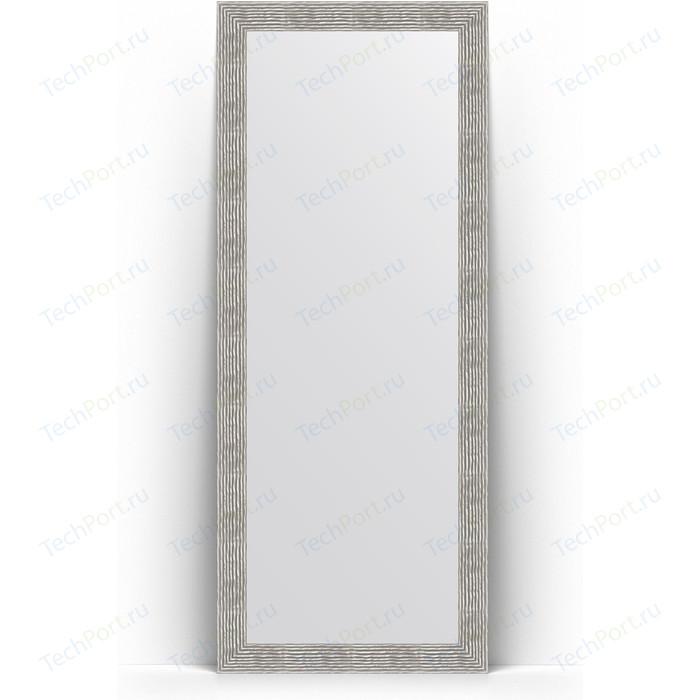 Зеркало напольное Evoform Definite Floor 81x201 см, в багетной раме - волна хром 90 мм (BY 6011)