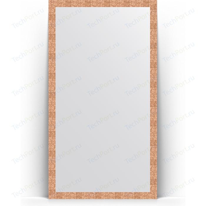 Зеркало напольное Evoform Definite Floor 108x197 см, в багетной раме - соты медь 70 мм (BY 6016)