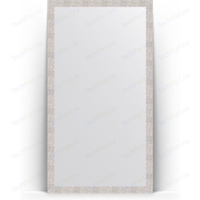Зеркало напольное Evoform Definite Floor 108x197 см, в багетной раме - соты алюминий 70 мм (BY 6017) зеркало evoform definite 86х66 соты алюминий