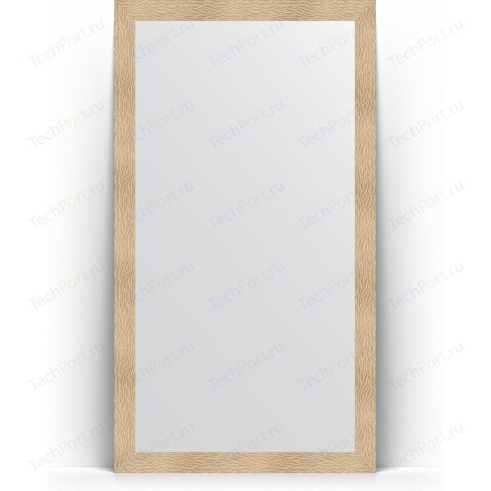 Зеркало напольное Evoform Definite Floor 111x201 см, в багетной раме - золотые дюны 90 мм (BY 6019) зеркало evoform definite floor 201х111 золотые дюны
