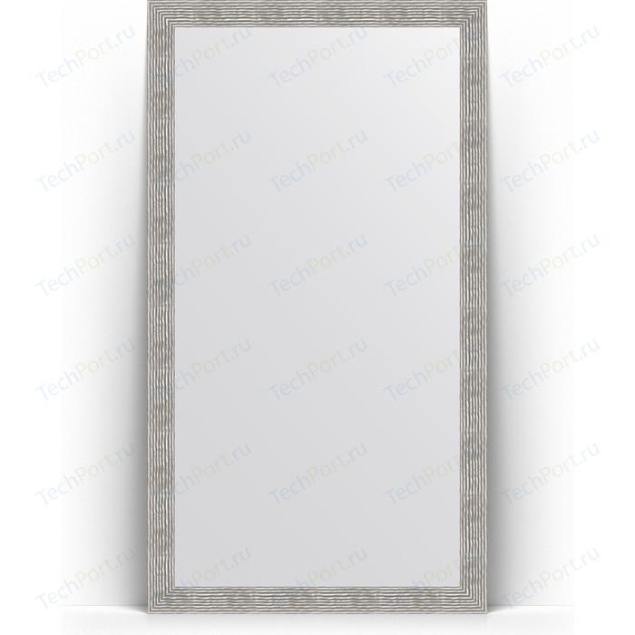 Зеркало напольное Evoform Definite Floor 111x201 см, в багетной раме - волна хром 90 мм (BY 6023)
