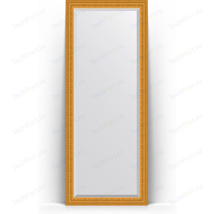 Зеркало напольное с фацетом Evoform Exclusive Floor 80x199 см, в багетной раме - сусальное золото 80 мм (BY 6109) зеркало evoform exclusive floor 199х100 сусальное золото