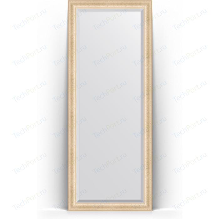 Зеркало напольное с фацетом Evoform Exclusive Floor 80x200 см, в багетной раме - старый гипс 82 мм (BY 6110) зеркало evoform exclusive g floor 200х110 старый гипс