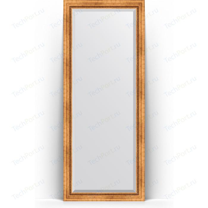 Зеркало напольное с фацетом Evoform Exclusive Floor 81x201 см, в багетной раме - римское золото 88 мм (BY 6117) зеркало напольное с гравировкой evoform exclusive g floor 81x201 см в багетной раме римское золото 88 мм by 6317