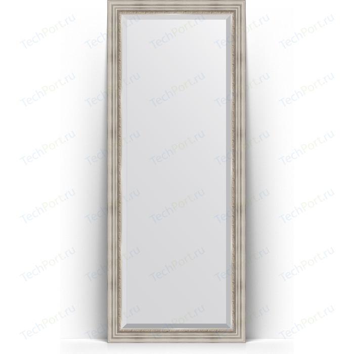 Зеркало напольное с фацетом Evoform Exclusive Floor 81x201 см, в багетной раме - римское серебро 88 мм (BY 6118) зеркало напольное с гравировкой evoform exclusive g floor 81x201 см в багетной раме римское золото 88 мм by 6317