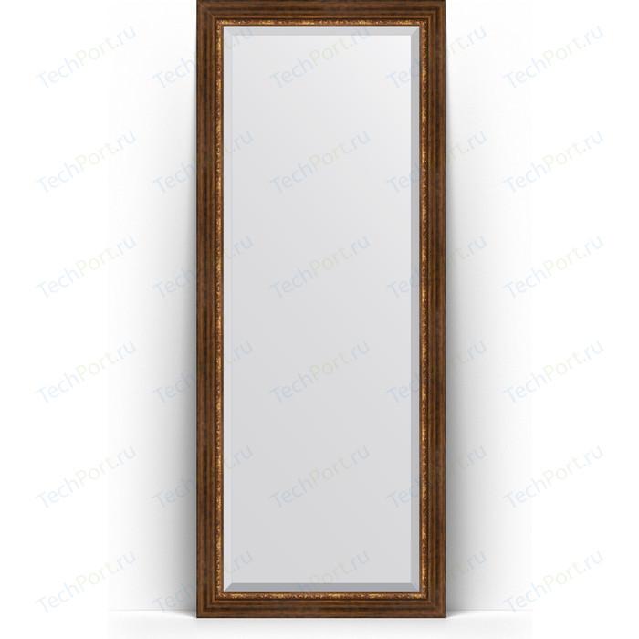 Зеркало напольное с фацетом Evoform Exclusive Floor 81x201 см, в багетной раме - римская бронза 88 мм (BY 6119)