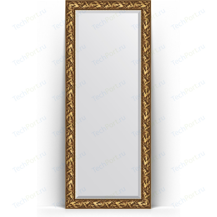 Зеркало напольное с фацетом Evoform Exclusive Floor 84x203 см, в багетной раме - византия золото 99 мм (BY 6124)