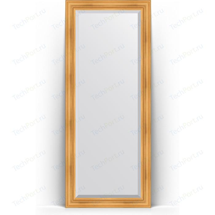 Зеркало напольное с фацетом Evoform Exclusive Floor 84x204 см, в багетной раме - травленое золото 99 мм (BY 6127) зеркало напольное с фацетом evoform exclusive floor 84x204 см в багетной раме вензель серебряный 101 мм by 6132