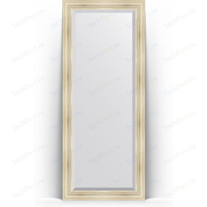 Зеркало напольное с фацетом Evoform Exclusive Floor 84x204 см, в багетной раме - травленое серебро 99 мм (BY 6128) зеркало напольное с фацетом evoform exclusive floor 84x204 см в багетной раме вензель серебряный 101 мм by 6132
