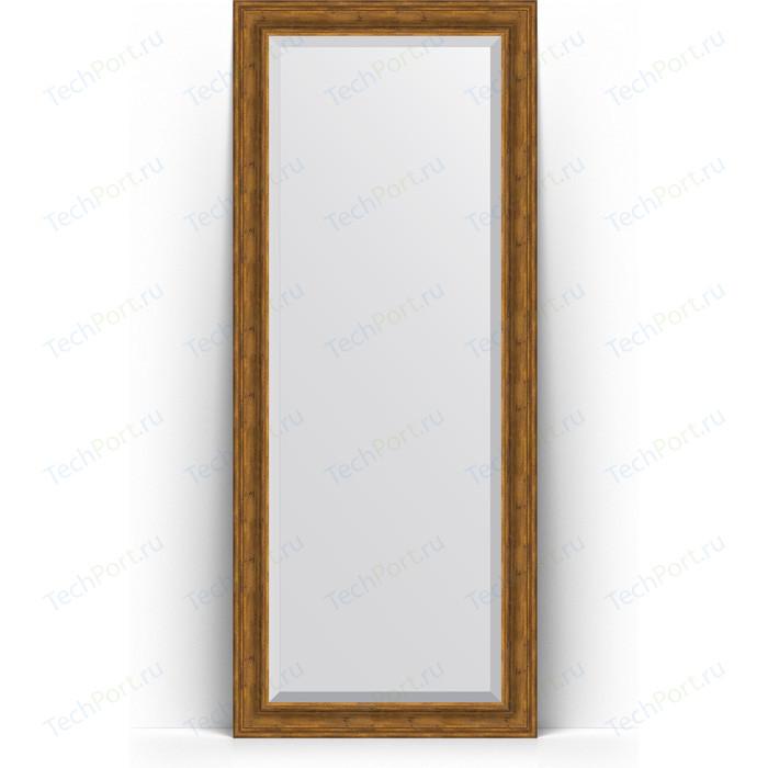 Зеркало напольное с фацетом Evoform Exclusive Floor 84x204 см, в багетной раме - травленая бронза 99 мм (BY 6129) зеркало напольное с фацетом evoform exclusive floor 84x204 см в багетной раме вензель серебряный 101 мм by 6132