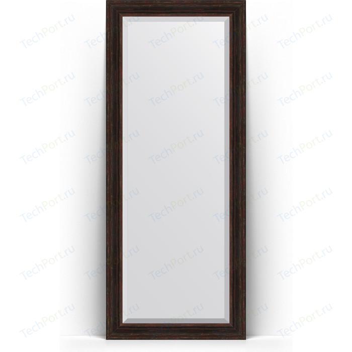 Зеркало напольное с фацетом Evoform Exclusive Floor 84x204 см, в багетной раме - темный прованс 99 мм (BY 6130)