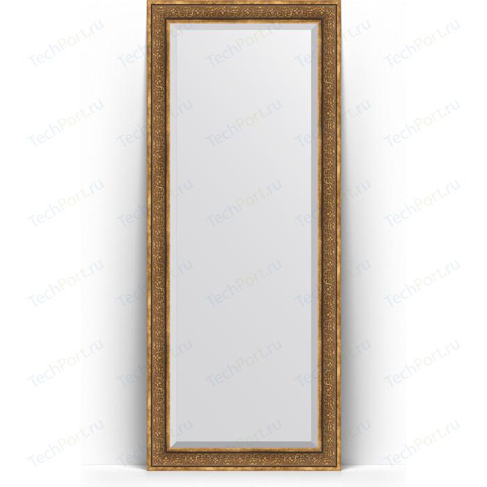 Зеркало напольное с фацетом Evoform Exclusive Floor 84x204 см, в багетной раме - вензель бронзовый 101 мм (BY 6131) зеркало напольное с фацетом evoform exclusive floor 84x204 см в багетной раме вензель серебряный 101 мм by 6132