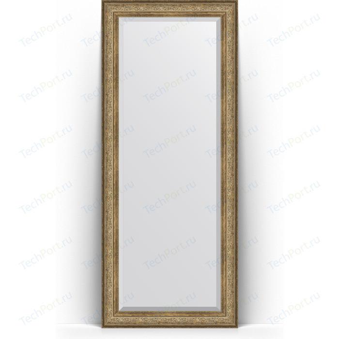 Фото - Зеркало напольное с фацетом Evoform Exclusive Floor 85x205 см, в багетной раме - виньетка античная бронза 109 мм (BY 6135) зеркало напольное с фацетом evoform exclusive floor 85x205 см в багетной раме виньетка античная бронза 109 мм by 6135